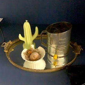Home decor set flower softer, cactus candle,
